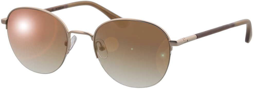 Picture of glasses model Wood Fellas Sunglasses Horizon macassar/gold 52-20 in angle 330