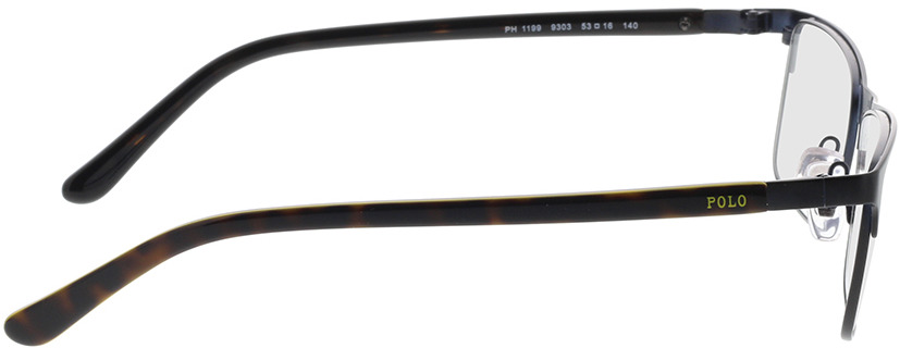 Picture of glasses model Polo Ralph Lauren PH1199 9303 53-16 in angle 90
