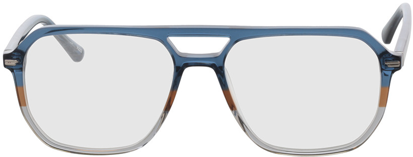 Picture of glasses model Clyde-dunkelblau/hellblau in angle 0