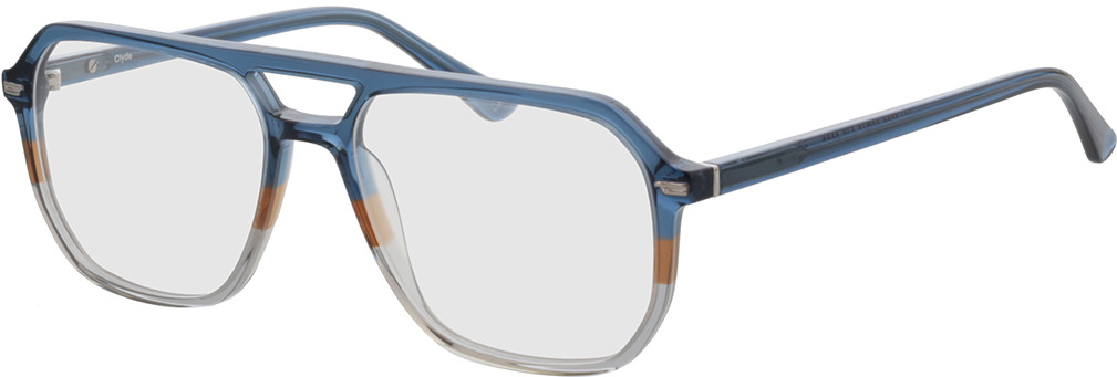 Picture of glasses model Clyde-dunkelblau/hellblau in angle 330
