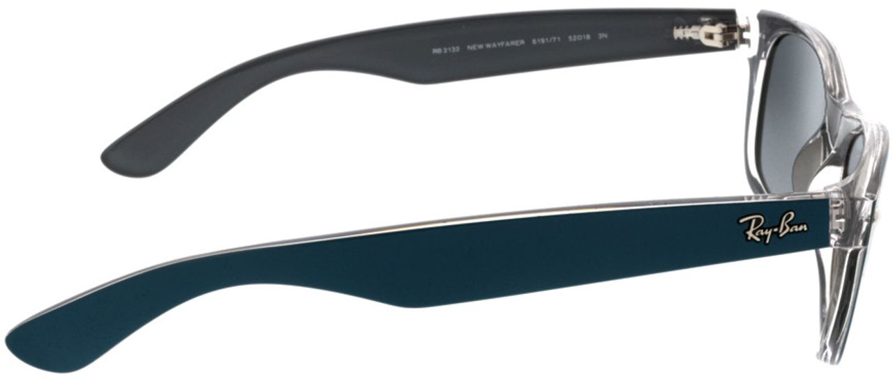 Picture of glasses model Ray-Ban New Wayfarer RB2132 619171 52-18 in angle 90