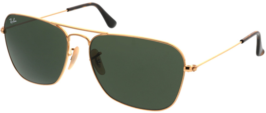 Picture of glasses model Ray-Ban Caravan RB3136 181 58-15 in angle 330