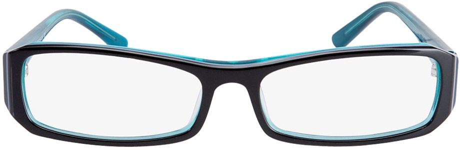 Picture of glasses model Girona-black-turquoise in angle 0