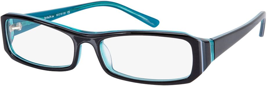 Picture of glasses model Girona-black-turquoise in angle 330