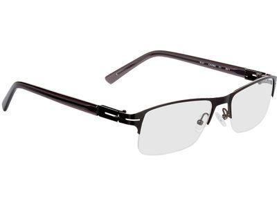 Brille Bastia-schwarz/dunkelgrau-transparent