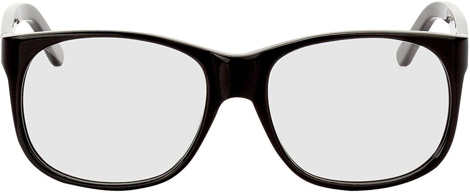 Picture of glasses model Newcastle-black in angle 0