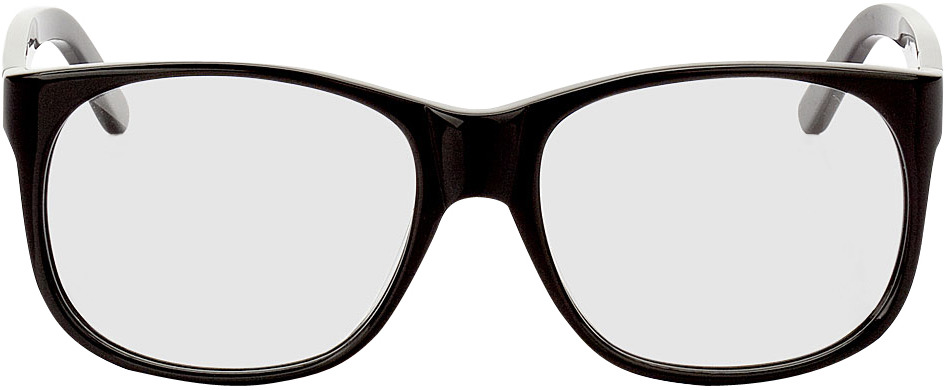 Picture of glasses model Newcastle zwart in angle 0
