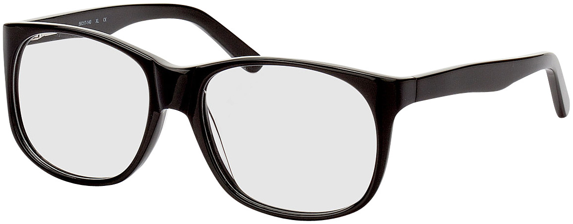 Picture of glasses model Newcastle zwart in angle 330