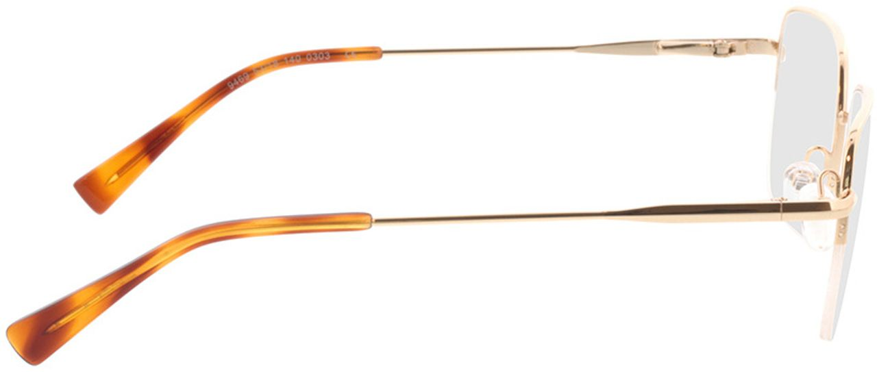 Picture of glasses model Texel-gold in angle 90