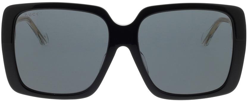 Picture of glasses model Gucci GG0567SA-001 58-16 in angle 0