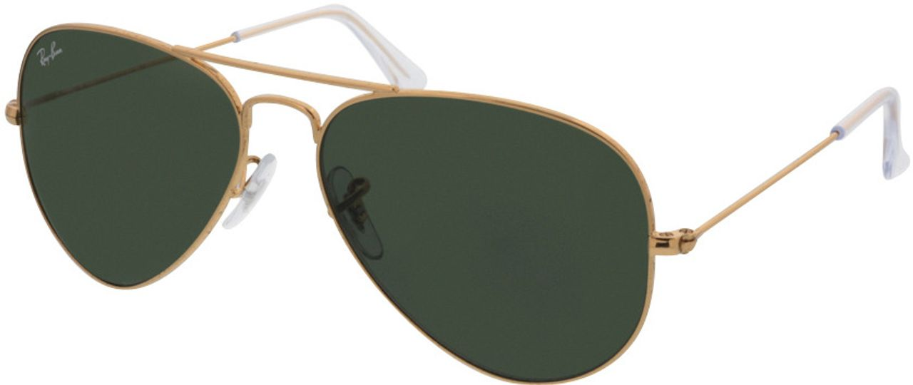 Picture of glasses model Ray-Ban Aviator RB3025 W3234 55-14 in angle 330