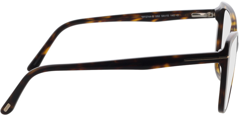 Picture of glasses model Tom Ford FT5744-B 052 54 in angle 90