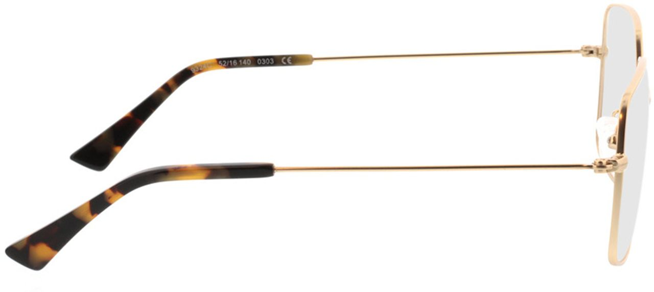 Picture of glasses model Nox-gold in angle 90