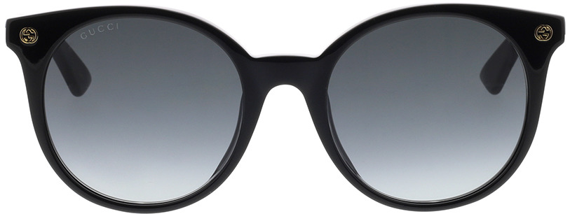 Picture of glasses model Gucci GG0091S-001 52-20 in angle 0
