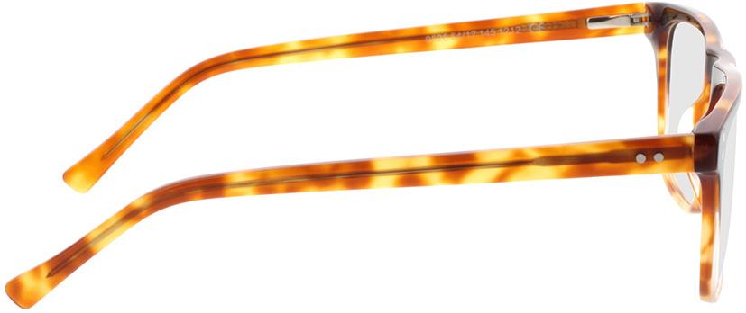 Picture of glasses model Lavis Zwart/havana in angle 90
