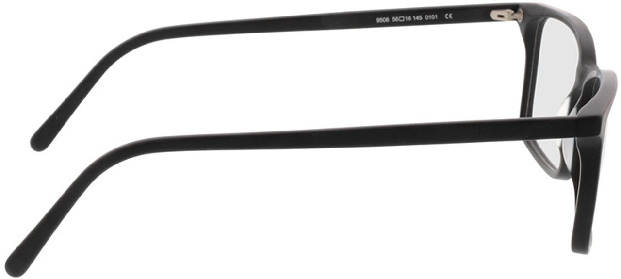 Picture of glasses model Reus-matt schwarz in angle 90