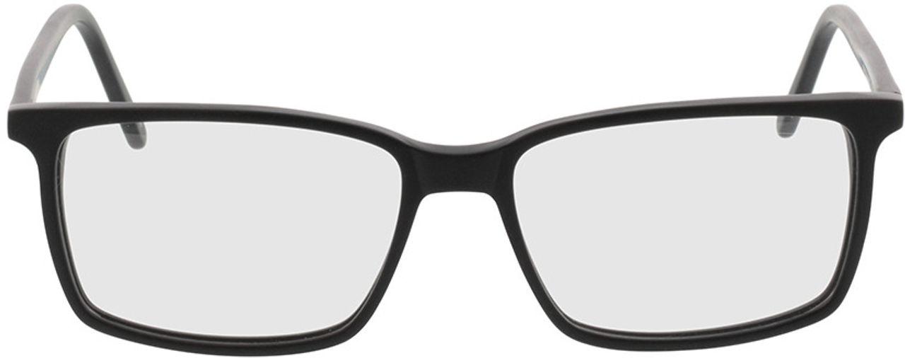 Picture of glasses model Reus-matt schwarz in angle 0
