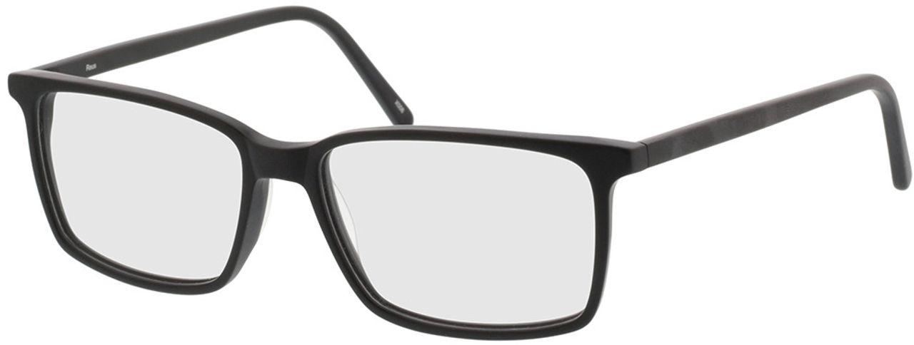 Picture of glasses model Reus-matt schwarz in angle 330