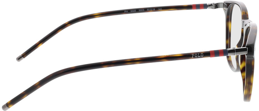 Picture of glasses model Polo Ralph Lauren PH2225 5003 50-18 in angle 90
