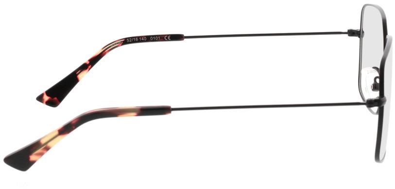 Picture of glasses model Nox-matt schwarz in angle 90