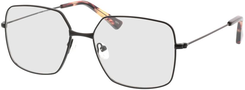 Picture of glasses model Nox-matt schwarz in angle 330