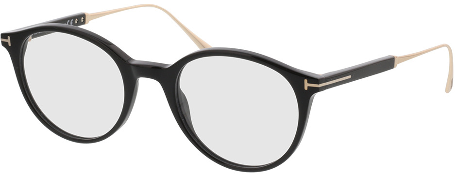Picture of glasses model Tom Ford FT5485 001 49-20 in angle 330