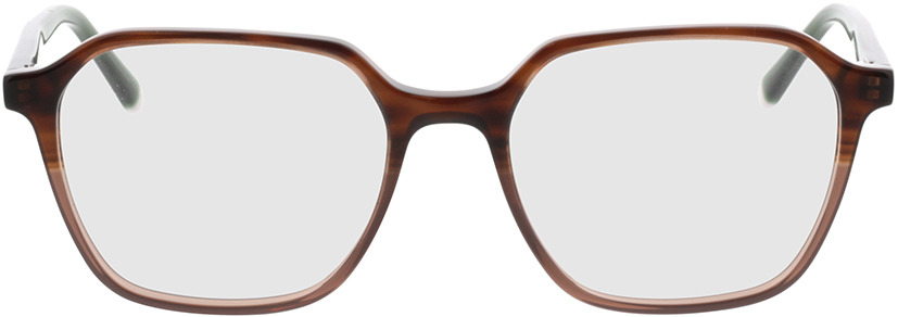 Picture of glasses model Fermo bruin cursus/groen in angle 0