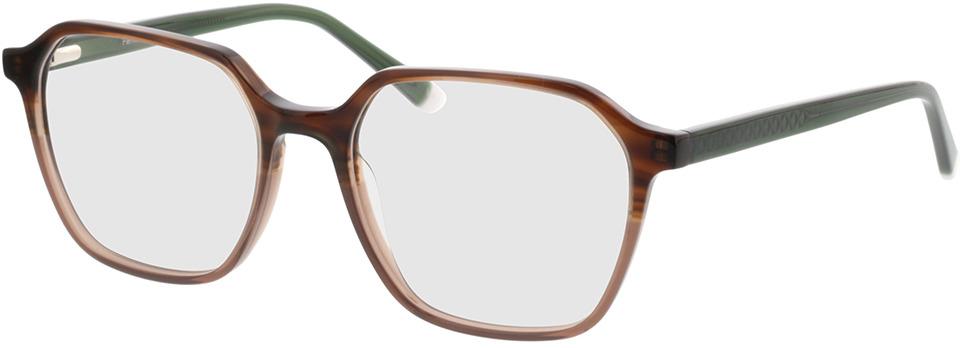Picture of glasses model Fermo bruin cursus/groen in angle 330