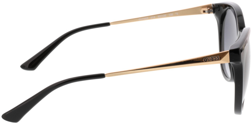 Picture of glasses model Guess GU7503 01A 52-20 in angle 90