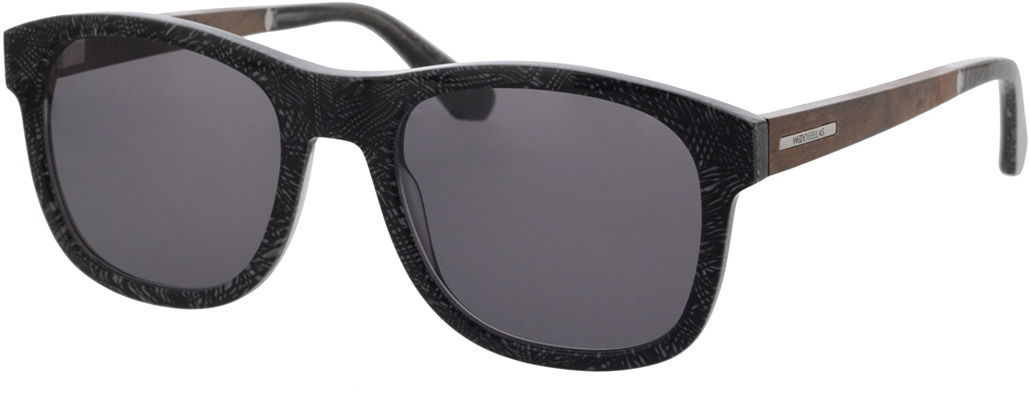 Picture of glasses model Wood Fellas Sunglasses Mirror curled/grey 55-21 in angle 330