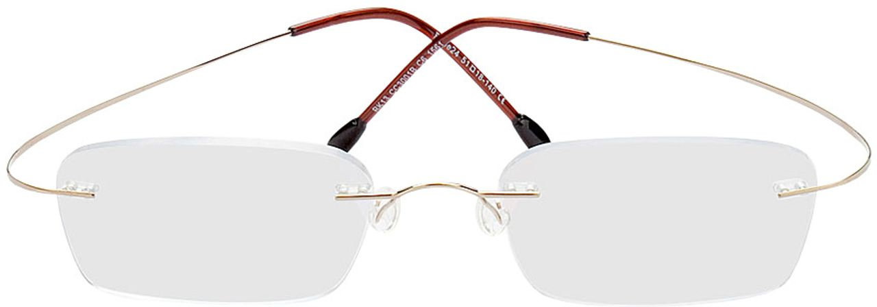 Picture of glasses model Mackay-gold in angle 0