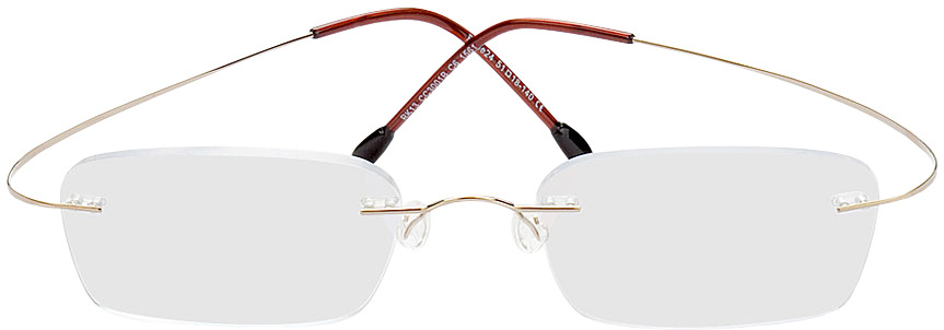 Picture of glasses model Mackay gold in angle 0