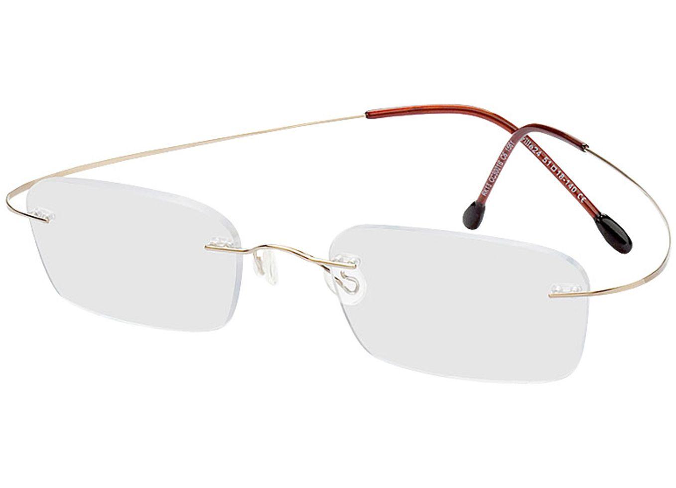 1561-singlevision-0000 Mackay-gold Gleitsichtbrille, Randlos, Rechteckig Brille24 Collection