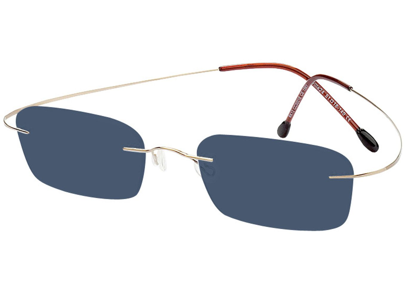 1561-singlevision-0285 Mackay-gold Sonnenbrille ohne Sehstärke, Randlos, Rechteckig Brille24 Collection