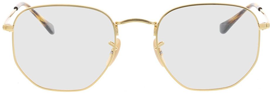 Picture of glasses model Ray-Ban Hexagonal RX6448 2500 54-21 in angle 0