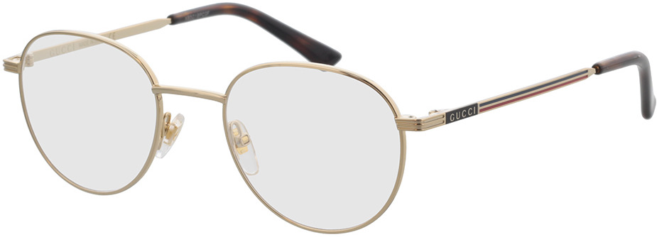 Picture of glasses model Gucci GG0835O-001 48-20 in angle 330
