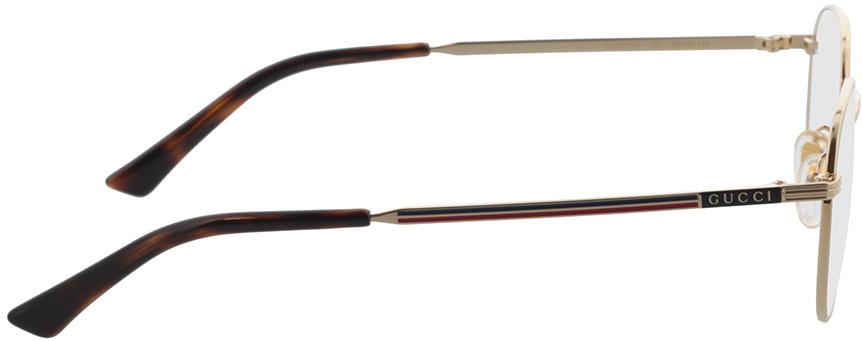 Picture of glasses model Gucci GG0835O-001 48-20 in angle 90