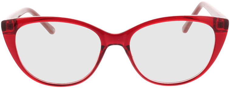 Picture of glasses model Arene-rouge/brun in angle 0