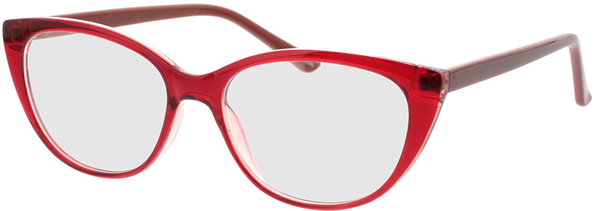 Picture of glasses model Arene-rouge/brun in angle 330
