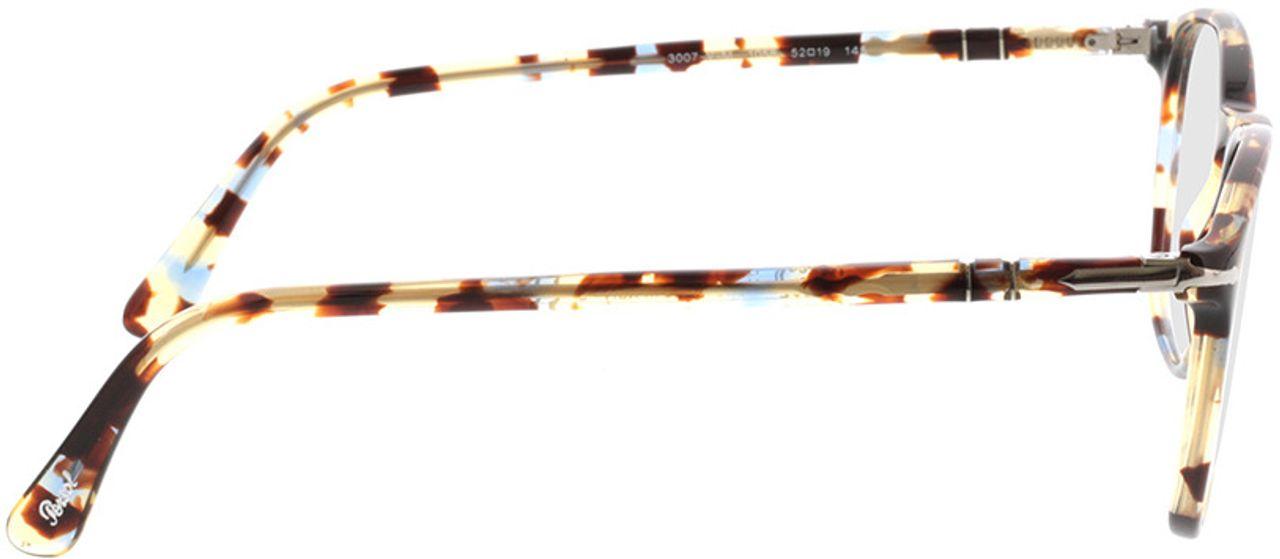 Picture of glasses model Persol PO3007VM 1058 52-19 in angle 90