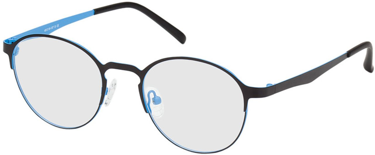 Picture of glasses model Ribe-schwarz/blau in angle 330