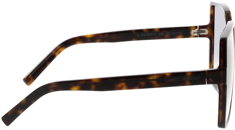 Picture of glasses model Saint Laurent SL 232 BETTY-003 63-13 in angle 90