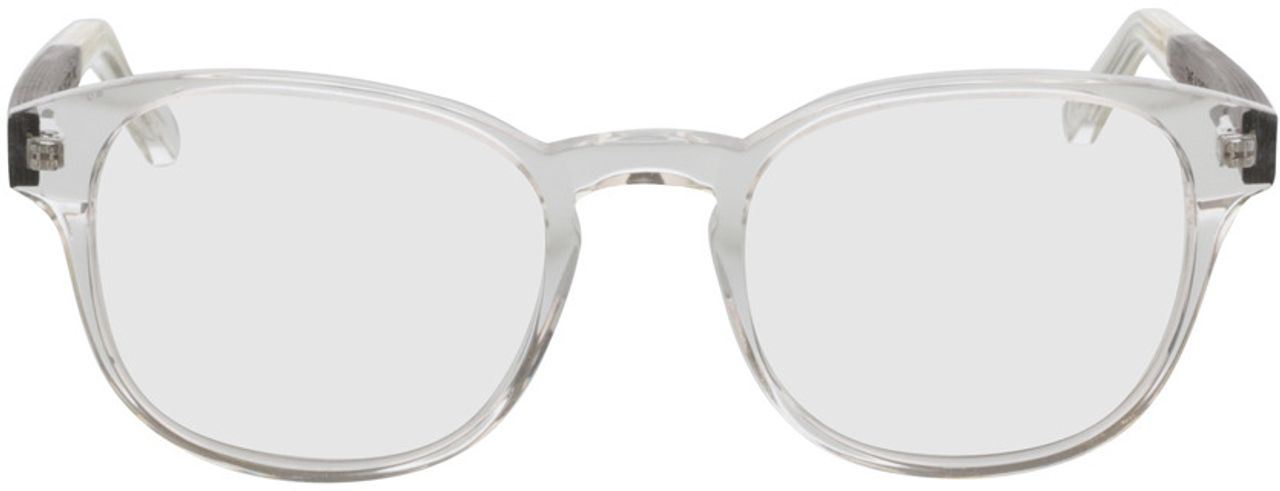 Picture of glasses model TAKE A SHOT Tali Crystal RX: Walnussholz 50-22 in angle 0