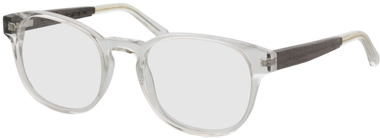Picture of glasses model TAKE A SHOT Tali Crystal RX: Walnussholz 50-22 in angle 330
