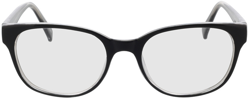 Picture of glasses model Frances-schwarz/transparent in angle 0