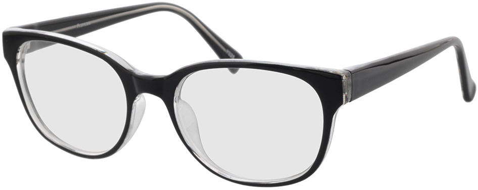 Picture of glasses model Frances-schwarz/transparent in angle 330
