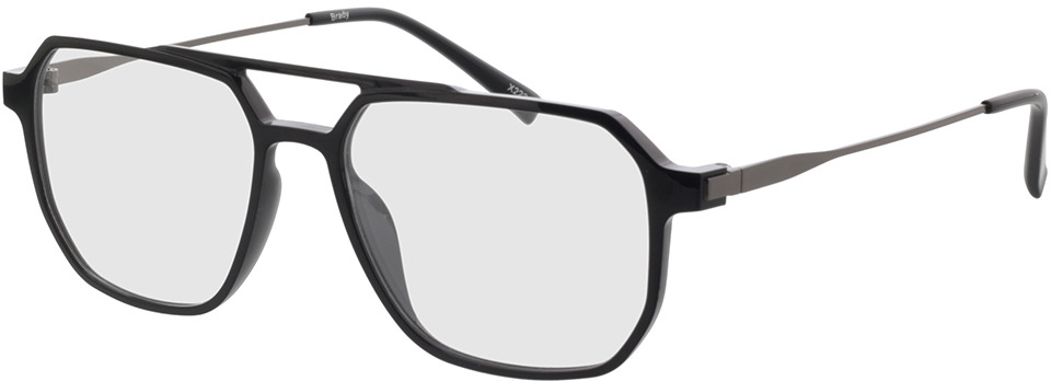 Picture of glasses model Brady Zwart/mat zilver in angle 330