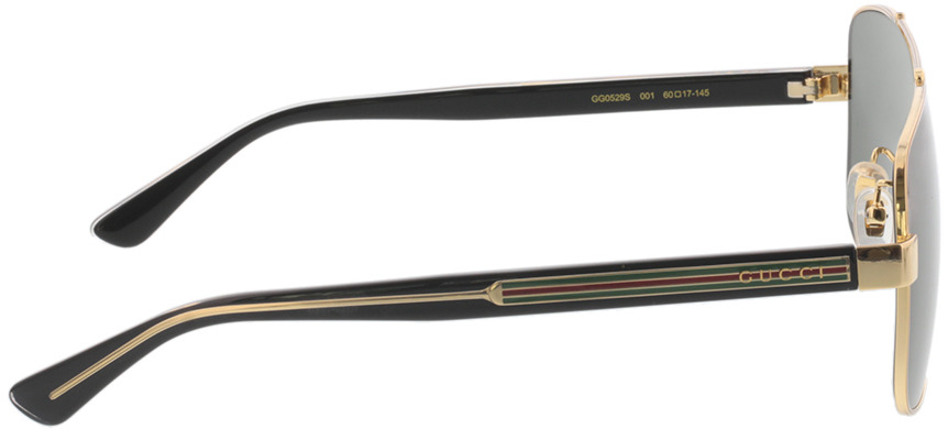 Picture of glasses model Gucci GG0529S-001 60-17 in angle 90