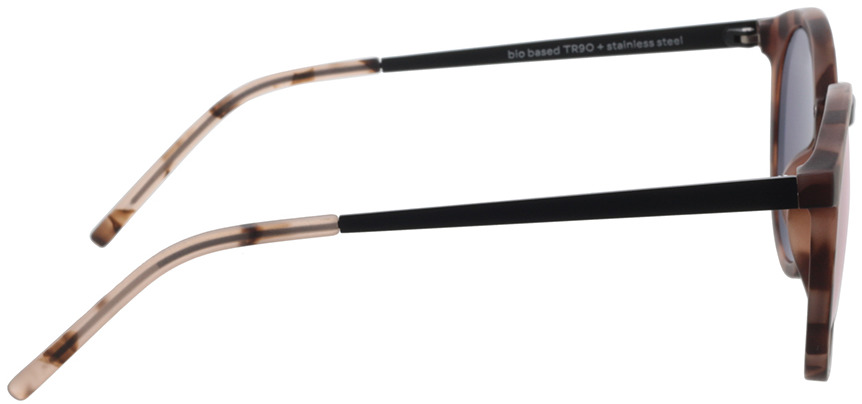 Picture of glasses model TAKE A SHOT Leonie: Pebble - Lily Mirrored 49-21 in angle 90