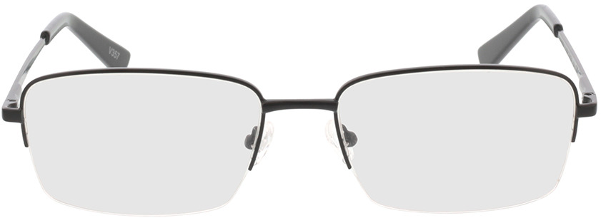 Picture of glasses model Foxton mat zwart in angle 0